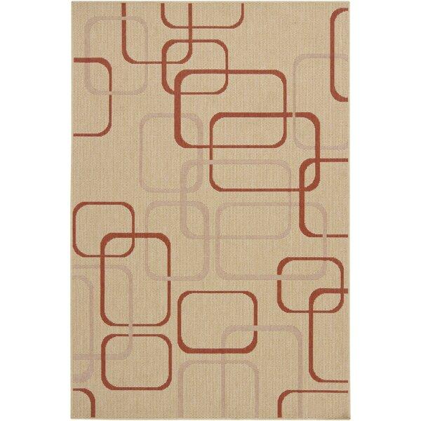 Annabel Wool Beige Geometric Area Rug by Corrigan