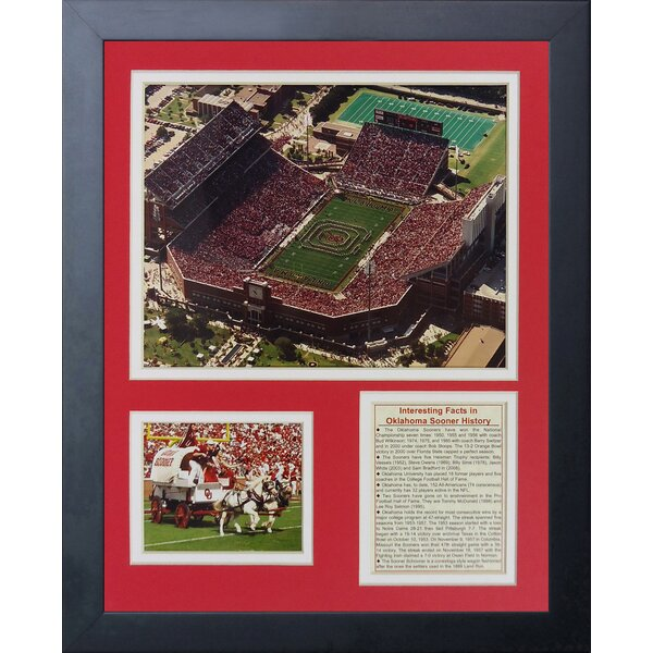 Oklahoma Sooners Memorial Stadium Framed Memorabilia by Legends Never Die