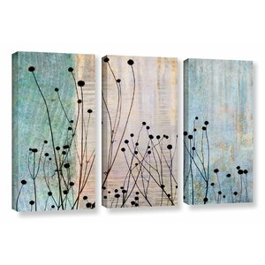 Dark Silhouette II 3 Piece Graphic Art on Wrapped Canvas Set by Latitude Run