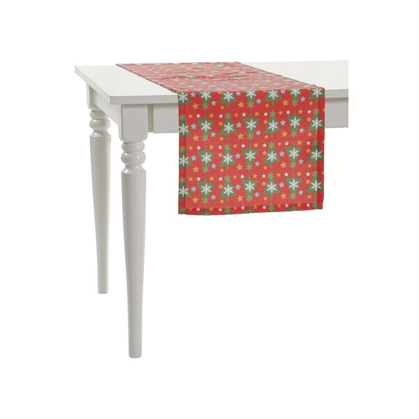 Stunning Snow Flakes Trees Table Runner by Debage Inc.