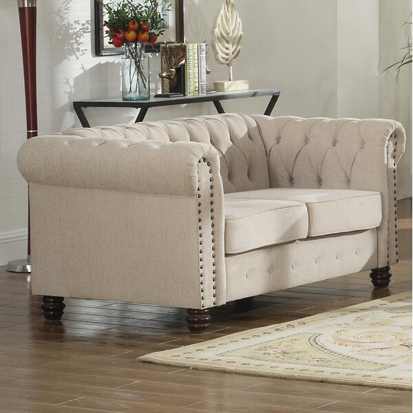 Altman Fabric Modern Living Room Loveseat by Alcott Hill