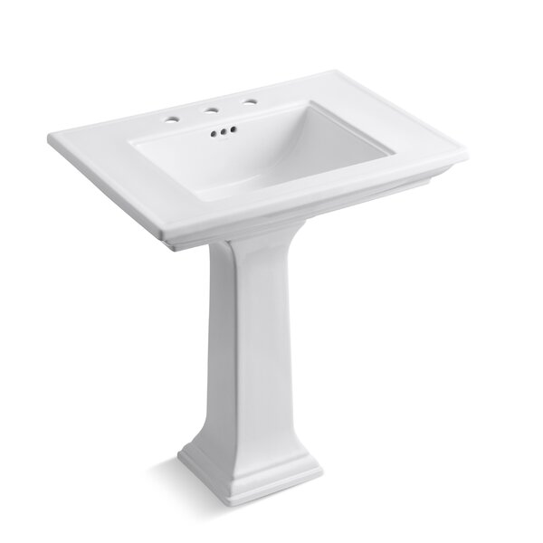 Memoirs® Ceramic 30 Pedestal Bathroom Sink with Overflow by Kohler