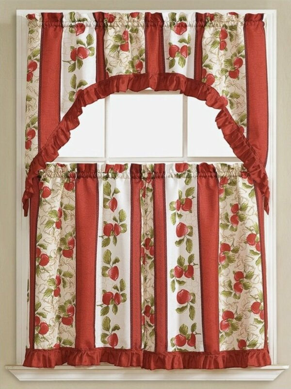 Apple Vine Kitchen Curtain Set