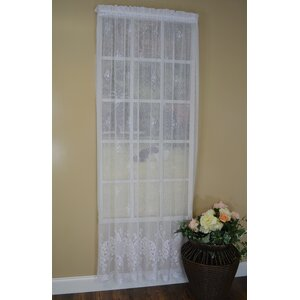 Galanth Nature/Floral Sheer Rod Pocket Single Curtain Panel