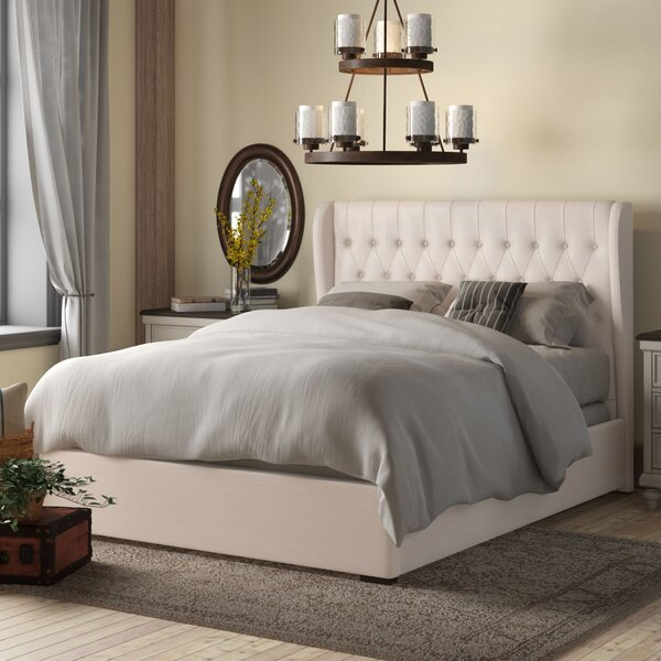 Sedgwick Queen Contemporary Wood Upholstered Storage Platform Bed by Birch Lane™ Heritage