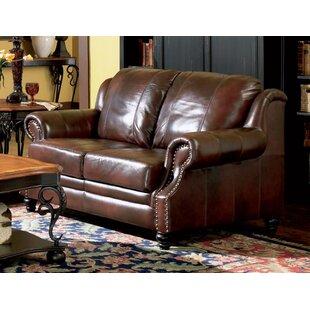 Rosetta Leather Loveseat