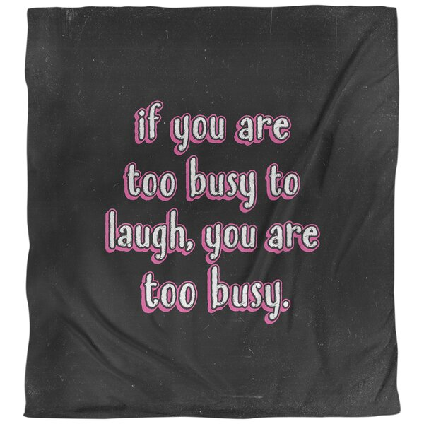 Quotes Make Time for Laughter Single Reversible Duvet Cover