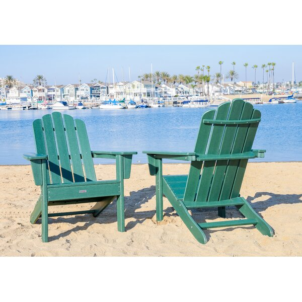 Pedigo Patio Plastic Adirondack Chair (Set of 2) by Breakwater Bay Breakwater Bay