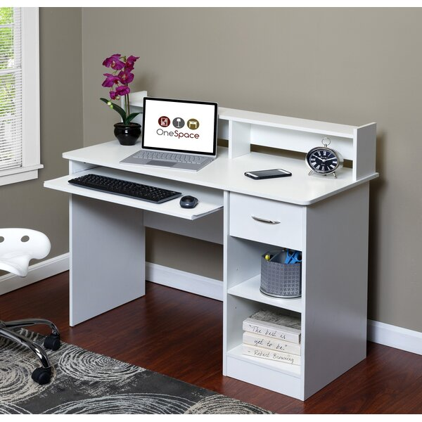 Essential Computer Desk with Hutch by OneSpace