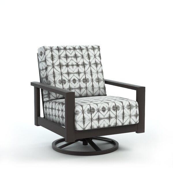 Winfred Swivel Patio Chair with Cushion by Bloomsbury Market Bloomsbury Market