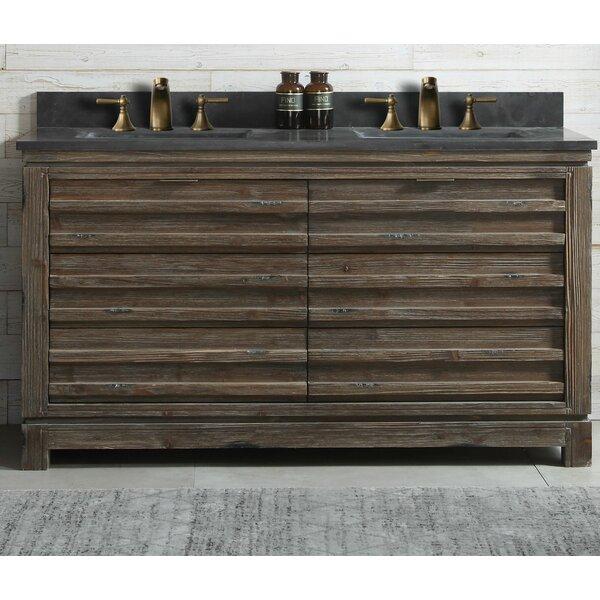 Fidelia Wood 60'' Double Bathroom Vanity Set by Union Rustic