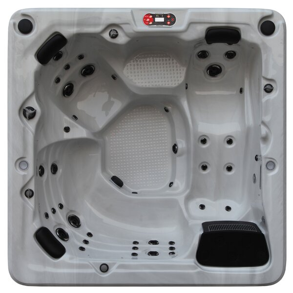 Toronto 6-Person 44-Jet Spa with Waterfall by Canadian Spa Co