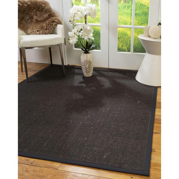 Troutt Hand-Hooked Brown Area Rug