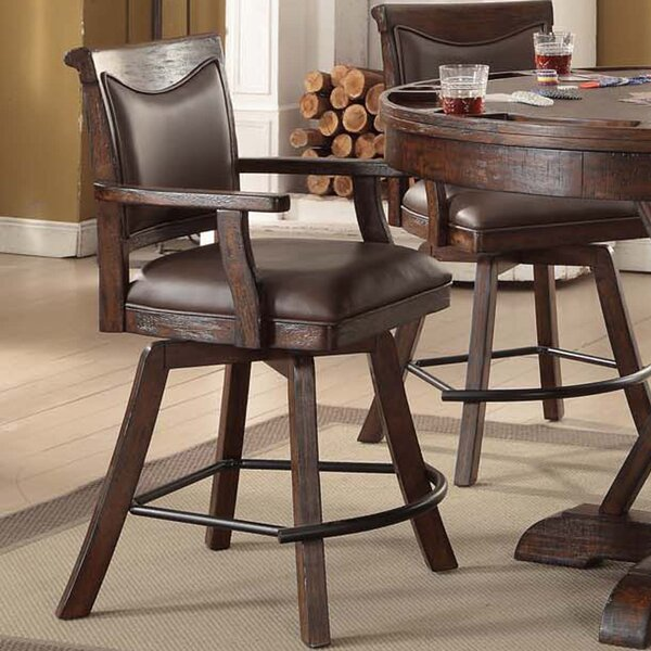 Tremper 24 Swivel Bar Stool (Set of 2) by Millwood Pines