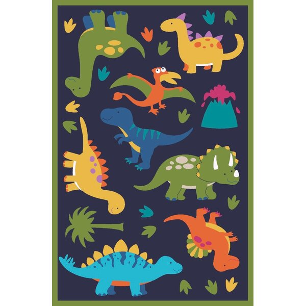 Navy Area Rug by Zoomie Kids