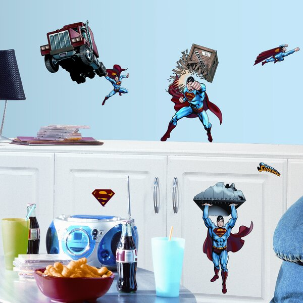 Favorite Characters 21 Piece Superman Day of Doom Wall Decal by Room Mates