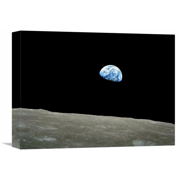 Earthrise, Apollo 8, December 24, 1968 Photographic Print on Wrapped Canvas by Global Gallery