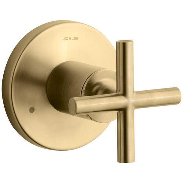 Purist Valve Trim with Cross Handle for Transfer Valve, Requires Valve by Kohler