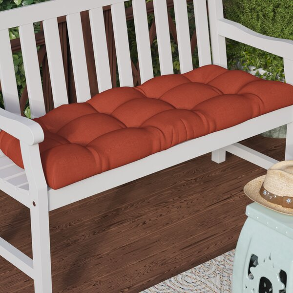 Indoor/Outdoor Bench Cushion by Three Posts