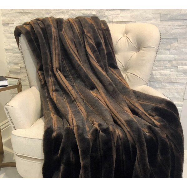 Fossen Mink Handmade Luxury Blanket by Everly Quinn