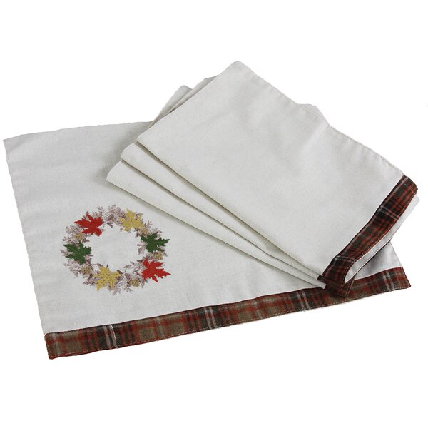 Maple Wreath Fall Placemat (Set of 4) by Xia Home Fashions