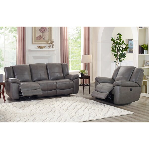 Yamaguchi Lay Flat Power 2 Piece Leather Reclining Living Room Set by Red Barrel Studio