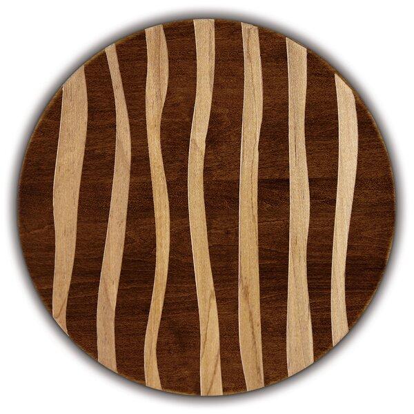 Artisan Woods Wavy Stripe Round Serving Platter by Martins Homewares