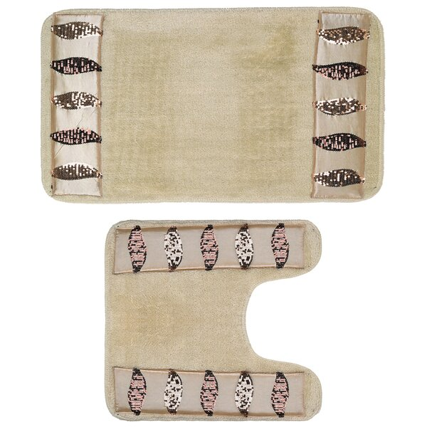 2 Piece Banded Bath Rug Set by Sweet Home Collection
