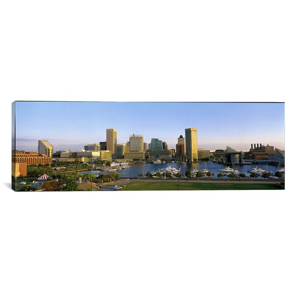 Panoramic Baltimore, Maryland Photographic Print on Canvas by iCanvas