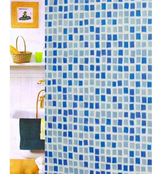 Mosaic Vinyl Shower Curtain by Carnation Home Fashions