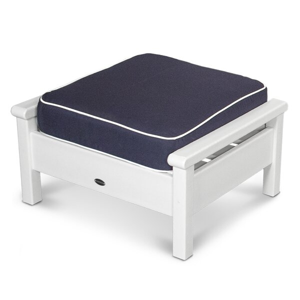 Harbour Outdoor Ottoman with Cushion by POLYWOOD®