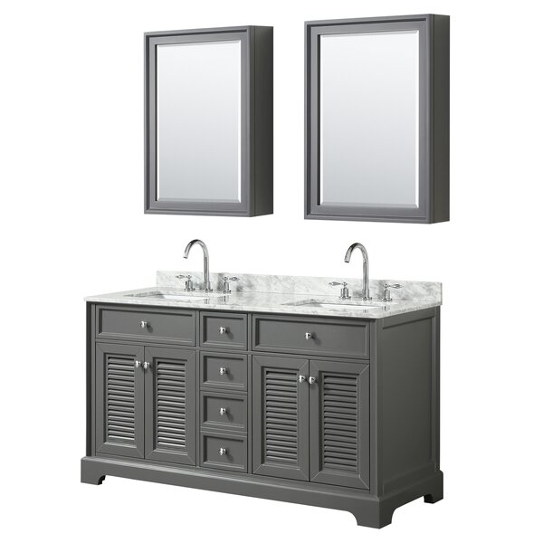 Tamara 60 Double Bathroom Vanity Set with Mirror