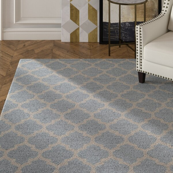 Frank Hand-Hooked Gray Area Rug by House of Hampton