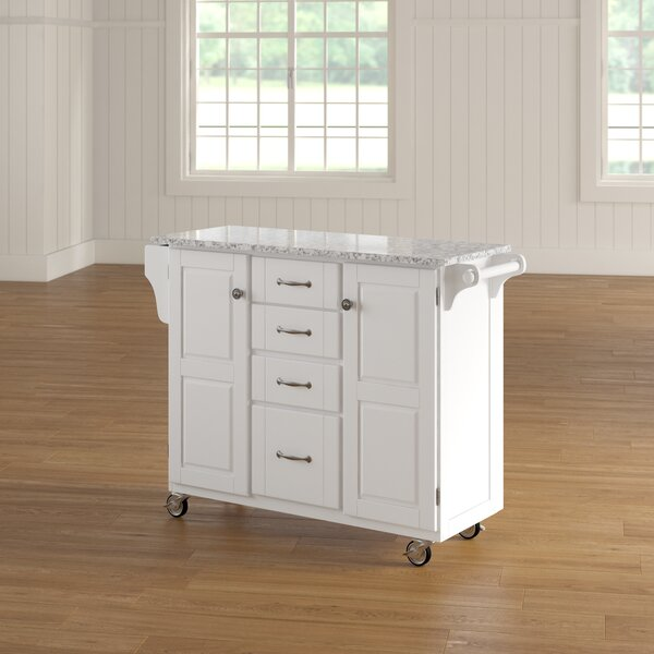 Bargain Legler-a-Cart Kitchen Island With Granite Top By Millwood Pines Wonderful