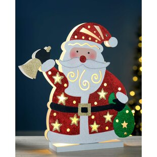 pre lit santa christmas decoration