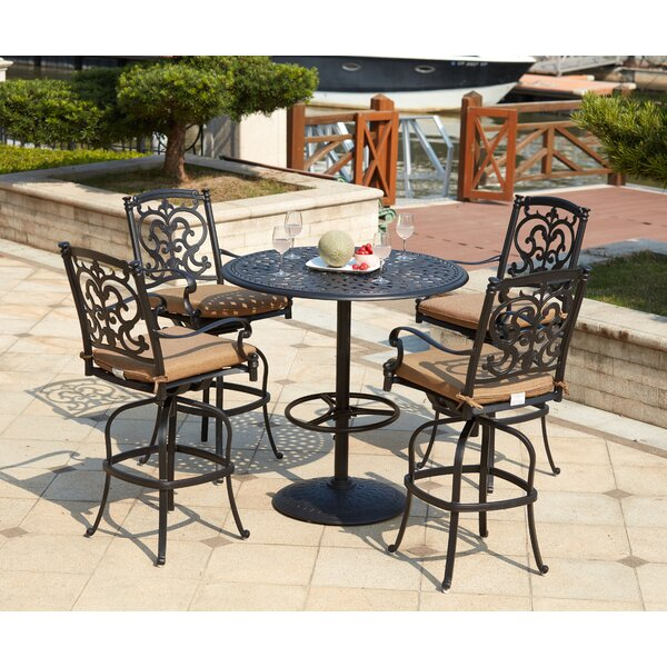Batista 5 Piece Bar Height Dining Set with Cushions by Fleur De Lis Living