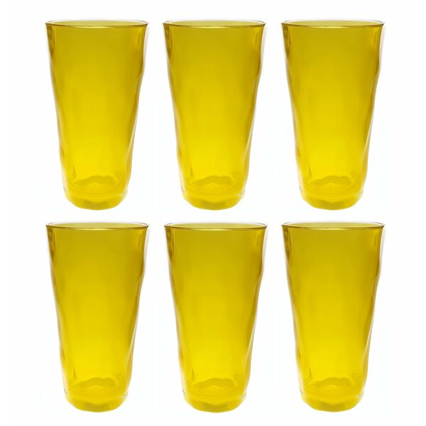 Acrylic Plastic 24 oz. Drinking Glass Tumbler (Set of 6) by QGoods Inc.