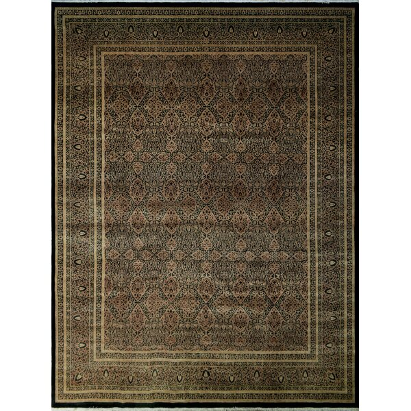 One-of-a-Kind Clearman Hand-Knotted Brown 11'11 x 15'1 Wool Area Rug