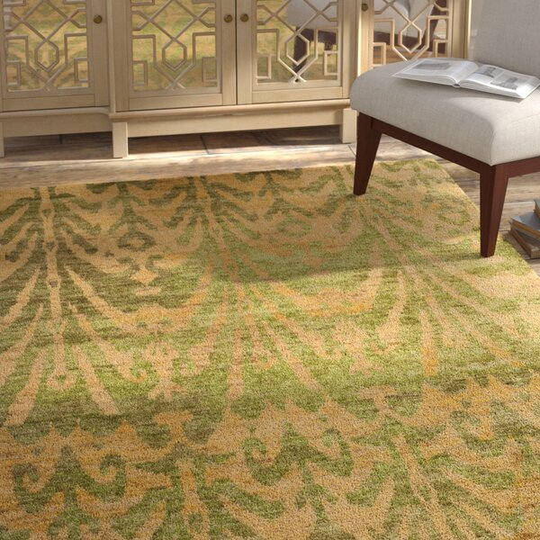 Pinehurst Oriental Green/Gold Area Rug by Bungalow Rose