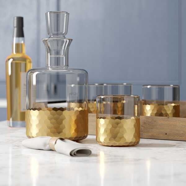Chauncey 5-Piece Square Decanter Set by Birch Lane™