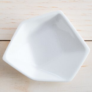 Price Check Small Geometric Ring Dish in White By Clarke Collective