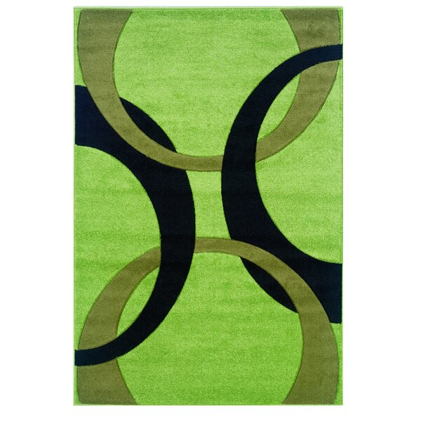 Manchester Hand-Woven Green/Black Area Rug by Threadbind
