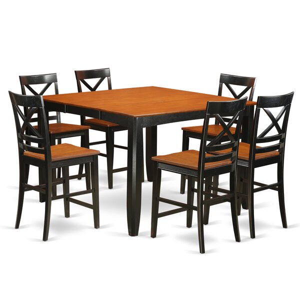 Krull 7 Piece Counter Height Pub Table Set by Red Barrel Studio