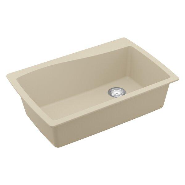 Quartz 34 L x 22 W Drop-In Kitchen Sink