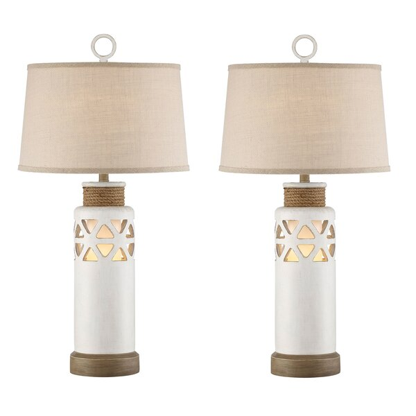 Ryker Rope 33 Table Lamp (Set of 2) by Beachcrest Home