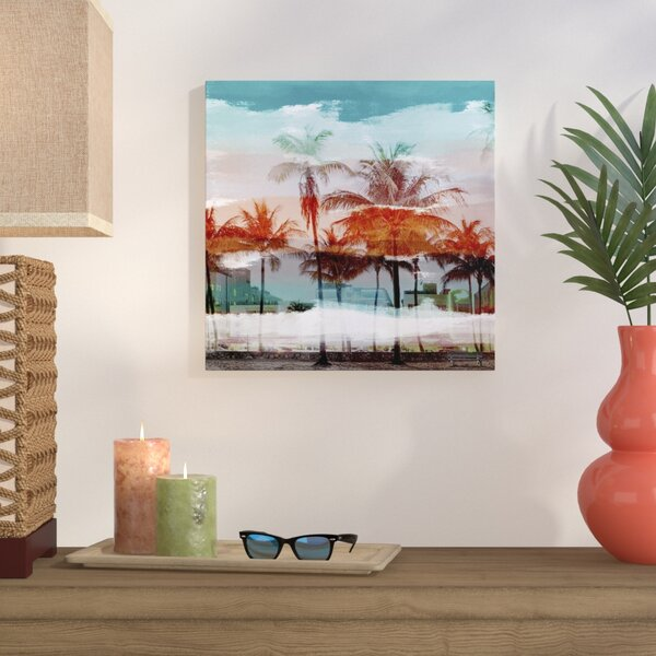 Tropicana Framed Graphic Art on Wrapped Canvas by Bay Isle Home