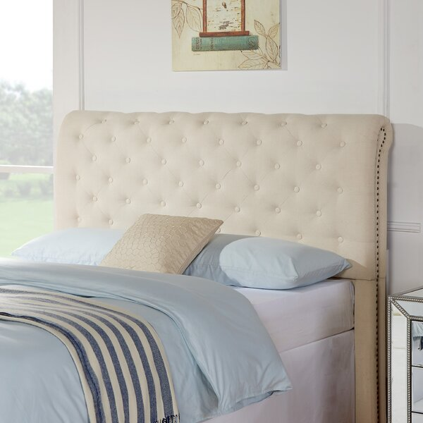 Trafton Upholstered Panel Headboard By Charlton Home