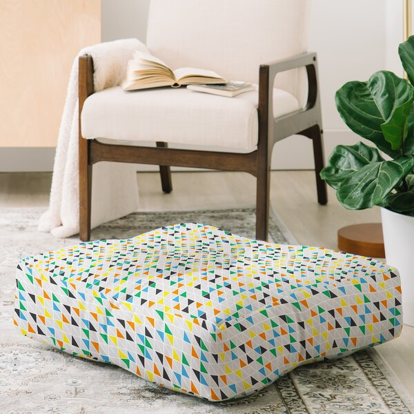 Vy La Triangles Train Floor Pillow by East Urban Home