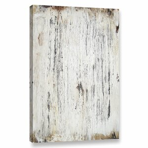 'White Washed Wood' Graphic Art Print on Canvas by Union Rustic