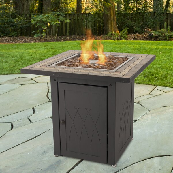 Atlantis Steel Propane Gas Fire Pit Table by Pleasant Hearth